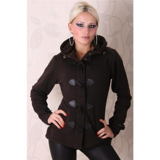PRECIOUS FLEECE SHORT COAT JACKET BROWN