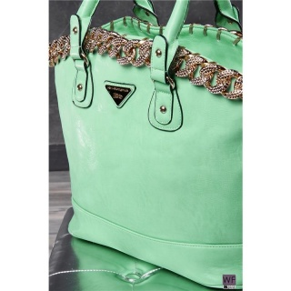 ELEGANT HANDBAG SLING BAG MADE OF ARTIFICIAL LEATHER GREEN