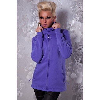 ELEGANT ZIPPER-JACKET WITH STANDING COLLAR PURPLE