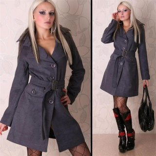 EXCLUSIVE LANA WOOL COAT GREY