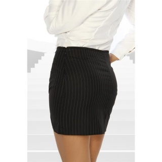 ELEGANT MINI SKIRT WITH PINSTRIPES BLACK