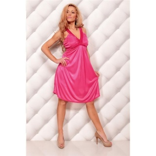 ELEGANT STRAPPY DRESS EVENING DRESS FUCHSIA