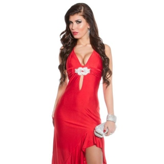 EXCLUSIVE LATINO-DRESS WITH LOOP RED