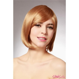 SHORT WIG WITH FRINGE STRAIGHT 28 CM LENGTH GOLDEN BLOND
