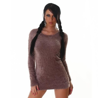 SOFT AND CUDDLY SWEATER LONG SWEATER SILK CAPPUCCINO