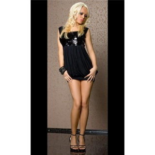 MEGA SEXY SEQUINED MINIDRESS BLACK