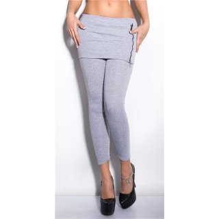 SEXY 2-IN-1 THERMO LEGGINGS AND SKIRT ONE-PIECE LIGHT GREY