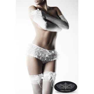 SEXY 3 PCS EROTIC LINGERIE SET PANTY STOCKINGS GLOVES GOGO WHITE