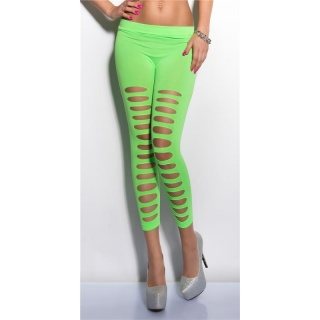 SEXY 7/8 LEGGINGS WITH CUT-OUTS CLUBWEAR NEON-GREEN