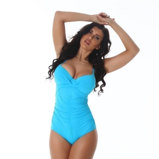 SEXY SWIMSUIT WITH ADJUSTABLE STRAPS BEACHWEAR TURQUOISE