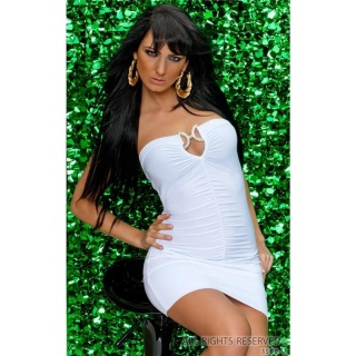 SEXY BANDEAU MINIDRESS WHITE