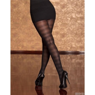SEXY OPAQUE PANTYHOSE BLACK