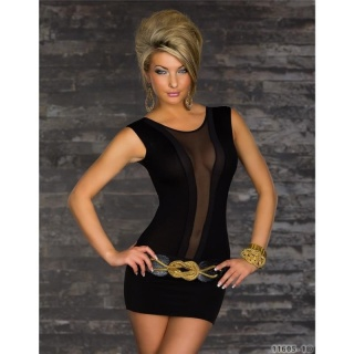 FEMININE BODYSHIRT BODY TRANSPARENT BLACK