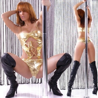 SEXY CLUBBING BODY-TOP MONOKINI GOLD