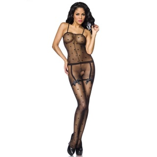 SEXY BODYSTOCKING CROTCHLESS CATSUIT DESSOUS GOGO BLACK