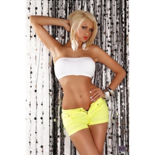 SEXY HOTPANTS SHORTS NEON GELB