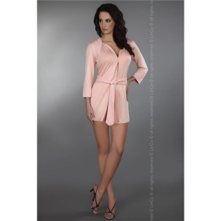 SEXY KIMONO NIGHTGOWN NIGHTDRESS SLEEPWEAR PINK