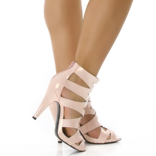 SEXY VARNISH-SANDALS HIGH HEELS PINK