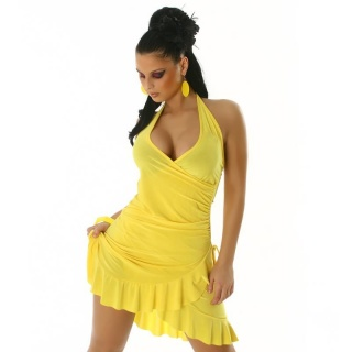SEXY LATINO DRESS SALSA YELLOW