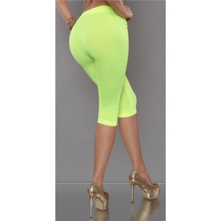 SEXY LEGGINGS IN CAPRI LENGTH NEON-YELLOW