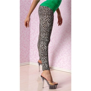 SEXY LEGGINGS LEOPARD-LOOK LEO-BROWN