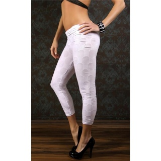 SEXY LEGGINGS WITH PATTERN CLUBWEAR WHITE