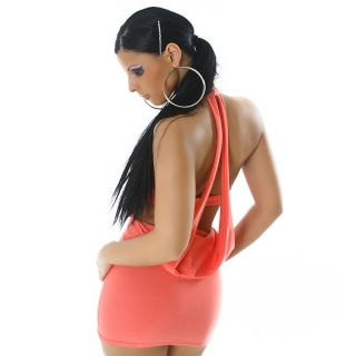 SEXY MINIDRESS WITH SEXY BACK VIEW APRICOT