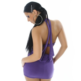 SEXY MINIDRESS WITH SEXY BACK VIEW PURPLE