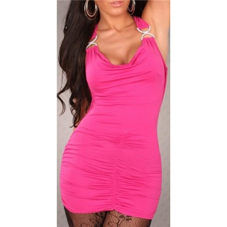 SEXY MINIDRESS CLUBWEAR BACKLESS FUCHSIA