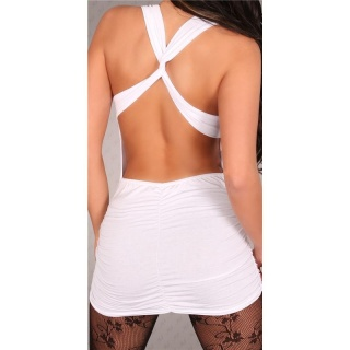 SEXY MINIDRESS CLUBWEAR BACKLESS WHITE