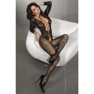 SEXY NETZ-BODYSTOCKING CATSUIT DESSOUS SCHWARZ