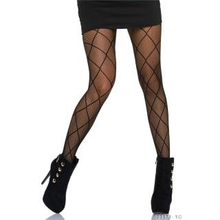 SEXY NYLON FISHNET TIGHTS PANTYHOSE WITH RHOMBIC PATTERN BLACK