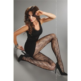 SEXY NYLON PANTYHOSE WITH FISHNET PATTERN BLACK