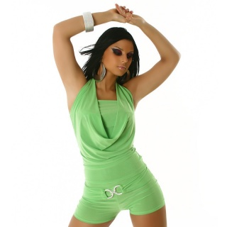 SEXY SHORT OVERALL JUMPSUIT CLUBBING GREEN