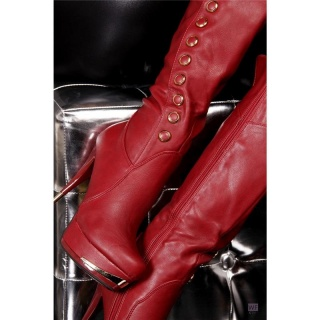 SEXY HIGH HEEL BOOTS PLATFORMS RED