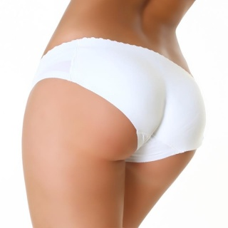 SEXY BUTT PUSH-UP PANTY WITH FOAM PADS WHITE
