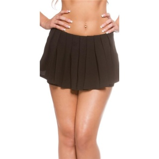 SEXY SKORT SHORTS WITH PLEATS BLACK