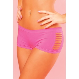 SEXY STRETCHY FITNESS HOTSHORTS PANTY WITH SIDE SLASH NEON-FUCHSIA