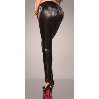 SEXY TREGGINGS R�HRENHOSE WETLOOK SCHWARZ