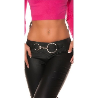 TRENDY LADIES STRETCH HIP-BELT WITH XXL-BUCKLE BLACK
