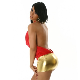 ULTRA SEXY MINIDRESS CLUBBING RED/GOLD