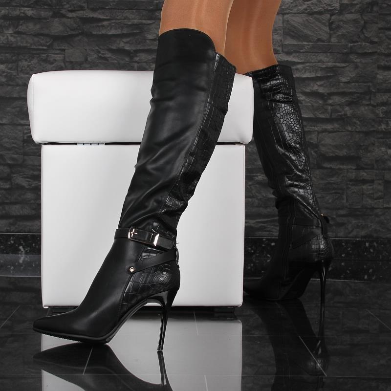 sexy damen stiefel aus leder imitat 49 95. Black Bedroom Furniture Sets. Home Design Ideas