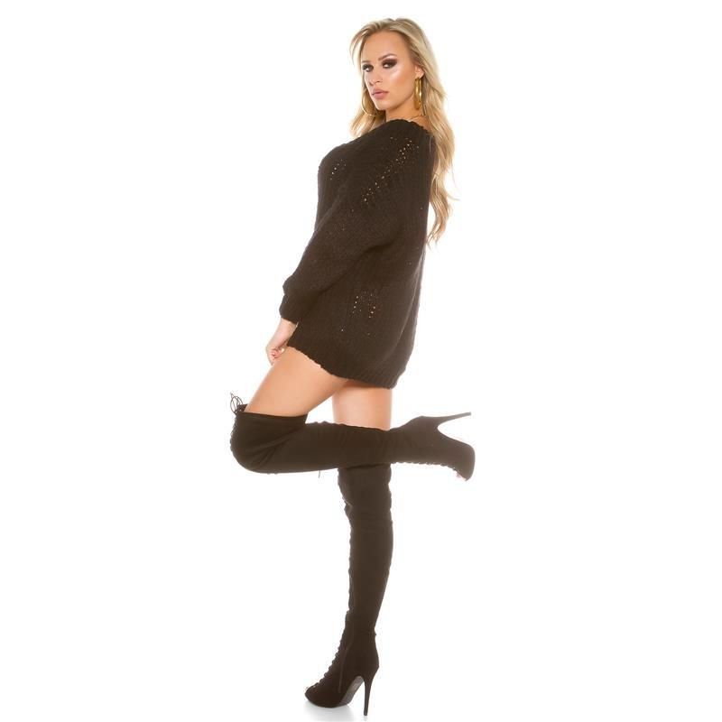 sexy overknee stiefel in wildleder optik zum schn ren 69 95. Black Bedroom Furniture Sets. Home Design Ideas