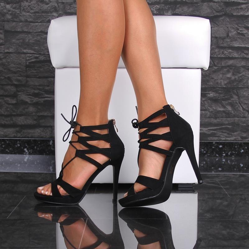 sexy sandaletten mit riemchen und bindeb ndchen 29 95. Black Bedroom Furniture Sets. Home Design Ideas