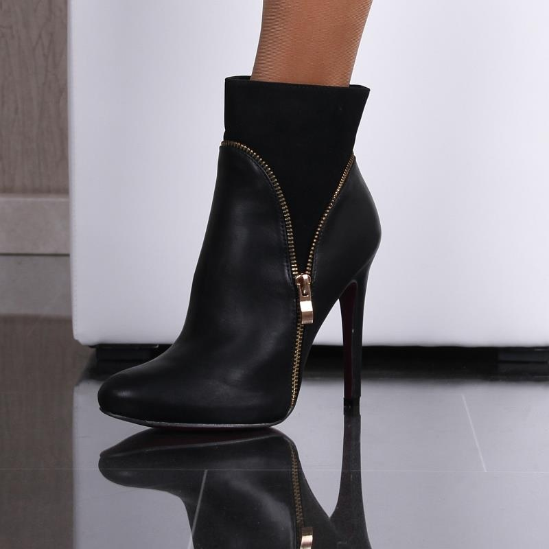 sexy ankle boots made of velvet and imitation leather 39 95. Black Bedroom Furniture Sets. Home Design Ideas