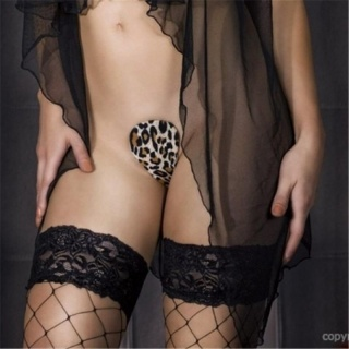 SEXY C-STRING IN LEOPARD-LOOK LINGERIE LEO-BROWN