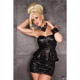 Sexy sequined glamour mini dress party dress black