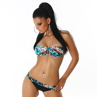 SEXY PUSH-UP NECKHOLDER BIKINI BEACHWEAR MULTICOLOR 34