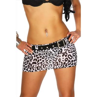 Sexy miniskirt clubbing with belt black/white UK 12 (L)