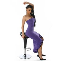 SEXY BANDEAU LATINO DRESS SALSA PURPLE/BLACK